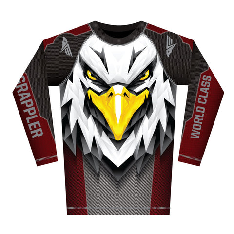 Red Eagle Facet Rash Guard (Long Sleeve)