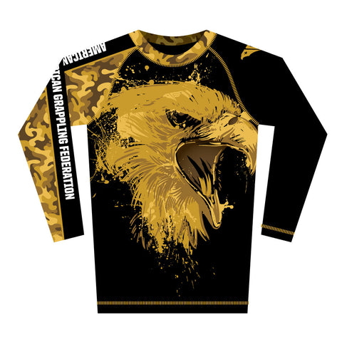 Gold Screaming Eagle Rash Guard (Long Sleeve)