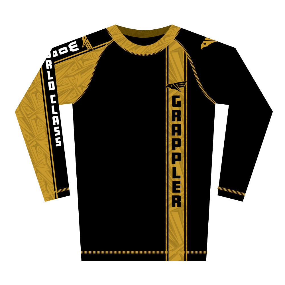 Golden Grappler Rash Guard (Long Sleeve)