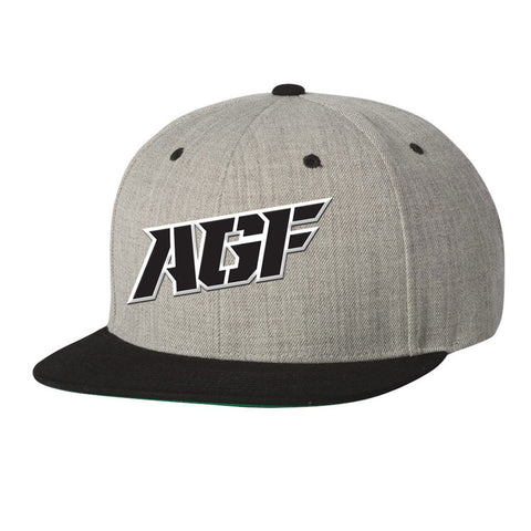 Gray / Black Snapback Hat