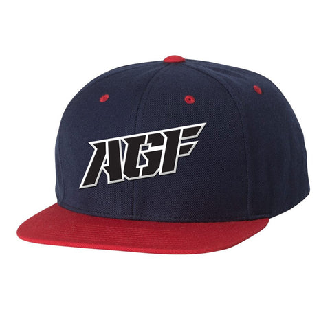 Navy / Red Snapback Hat