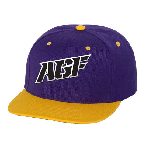 Purple / Yellow Snapback Hat