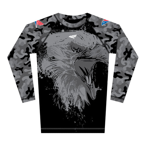 Black Camo Rash Guard (Long Sleeve)