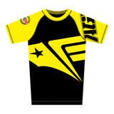 Yellow Ranked Rash Guard (Short Sleeve)