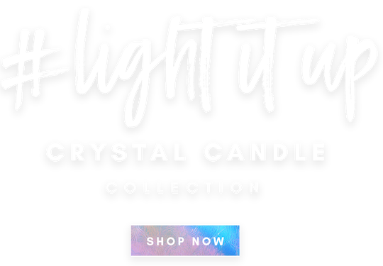 Moon & Ivy Crystal Candle Collection Shop Now Crystals for Full Moon Rituals