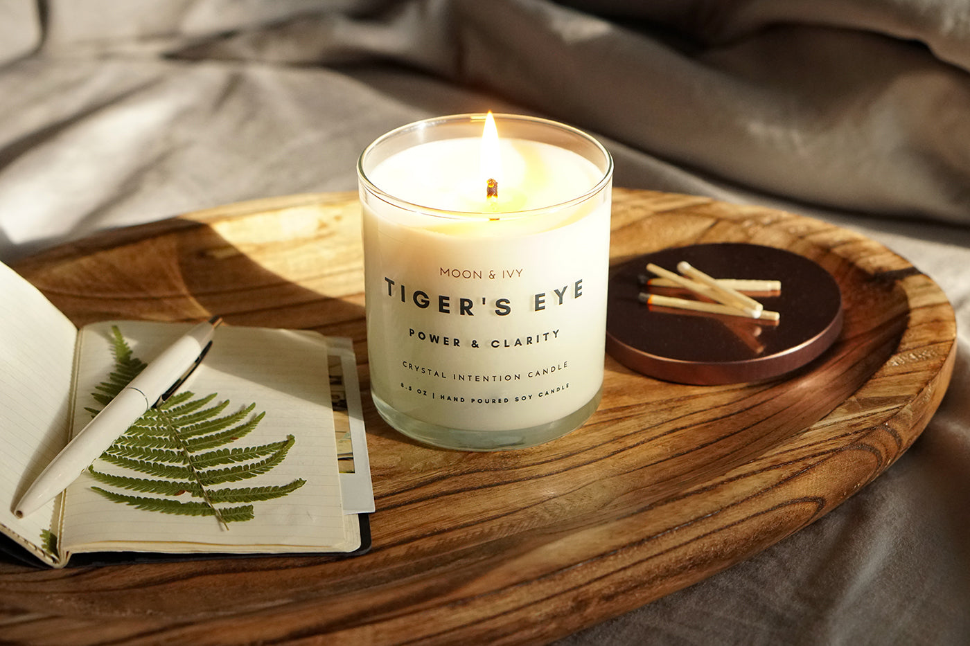 Moon & Ivy Tigers Eye Fall Candles