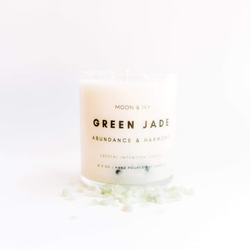 Jade Crystal Candle