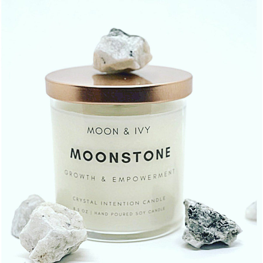 MOONSTONE CRYSTAL INTENTION CANDLE