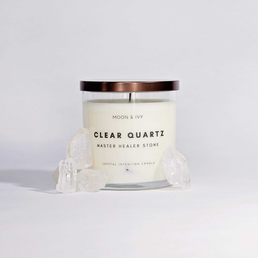 Moon & Ivy candle Clear Quartz Crystal Candle