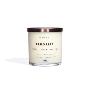 Fluorite Crystal Intention Candle