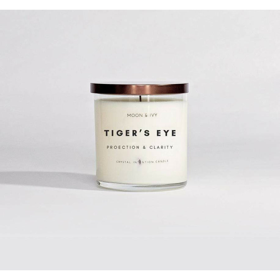Moon & Ivy candle Tiger's Eye Crystal Candle