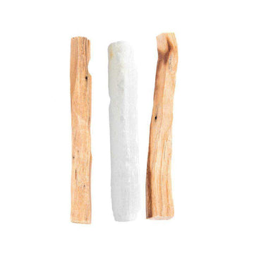 Moon & Ivy Cleansing Kit Palo Santo & Selenite Wand Cleansing Kit