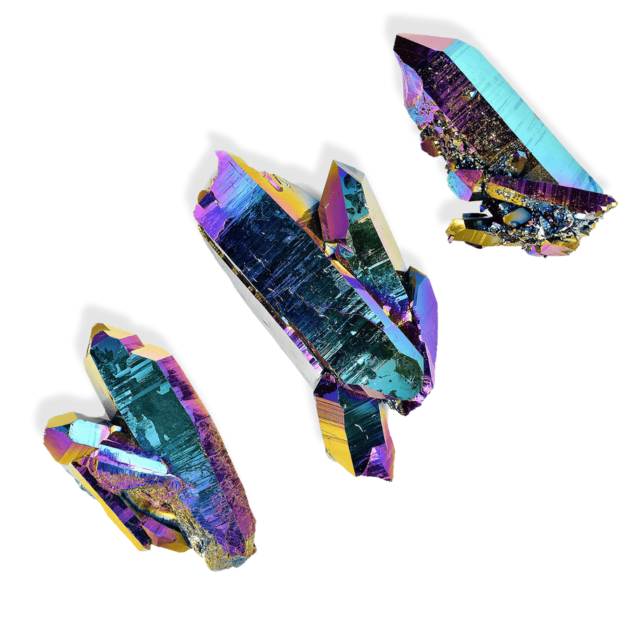Moon & Ivy crystal RAINBOW AURA QUARTZ CRYSTAL CLUSTER