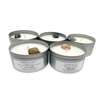 Choose Your Crystal 9oz Soy Wx Intention Candle