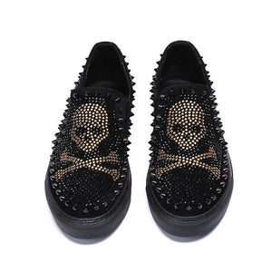 0b4f053ac79 Luxurious Skull Spiked Loafers Men Shoes – I Love Skulls Store ☠️