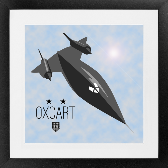 Oxcart Framed Print