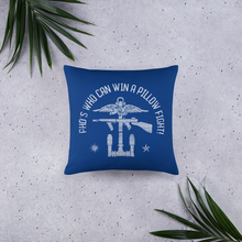 COG PhD Throw Pillow - Blue
