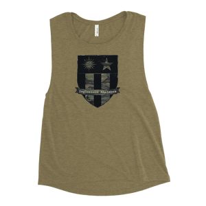 OG Tiger Stripe Shield Ladies' Muscle Tank