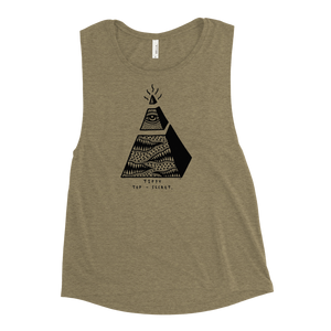 Tippy Top Secret Ladies' Muscle Tank