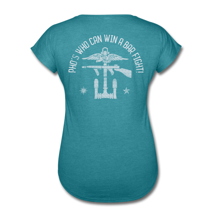 COG PhD Women's - heather turquoise