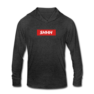 SHHH v2 Unisex Hoodie - heather black