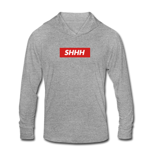SHHH v2 Unisex Hoodie - heather gray