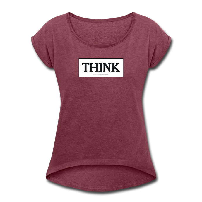 THINK Woman's Shirt - heather burgundy