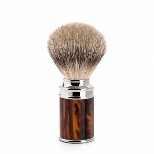 MUHLE Silvertip Fine Badger Brush HIGHGRADE TORTOISESHELL RESIN HANDLE 091 M 108 - Blackwood Barbers