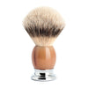 MUHLE SOPHIST SILVERTIP BADGER BRUSH GENUINE BUFFALO HORN HANDLE 93 B 42