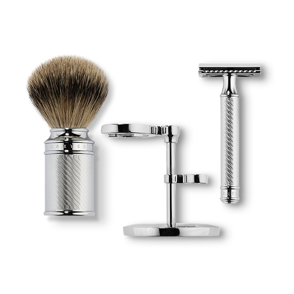 BAXTER OF CALIFORNIA SHAVE KIT WITH SAFETY RAZOR AND SHAVING BRUSH - Blackwood Barbers