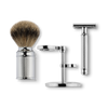BAXTER OF CALIFORNIA SHAVE KIT WITH SAFETY RAZOR AND SHAVING BRUSH