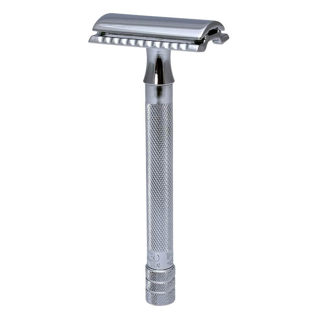 MERKUR 23C SAFETY RAZOR LONG HANDLE CLASSIC CHROME - Blackwood Barbers