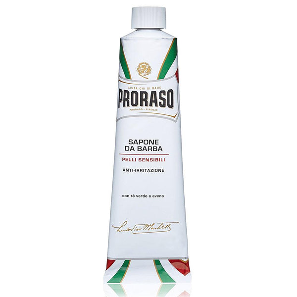 PRORASO GREEN TEA AND OATMEAL SENSITIVE SHAVING CREAM TUBE 150mL