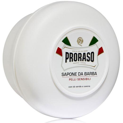 PRORASO GREEN TEA AND OATMEAL SENSITIVE SHAVING SOAP 150mL