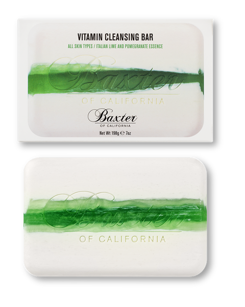 BAXTER OF CALIFORNIA VITAMIN CLEANSING BAR WITH ITALIAN LIME AND POMEGRANATE
