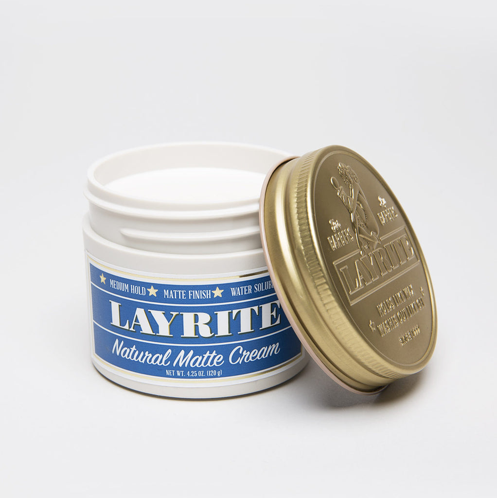 LAYRITE NATURAL MATTE CREAM POMADE - Blackwood Barbers