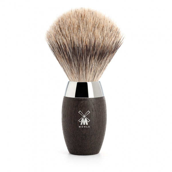 Muhle fine badger brush. bog oak handle 281H873 - Blackwood Barbers