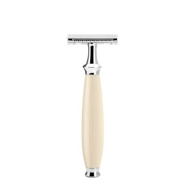 MUHLE PURIST SAFETY RAZOR CLOSED HIGH GRADE IVORY RESIN HANDLE