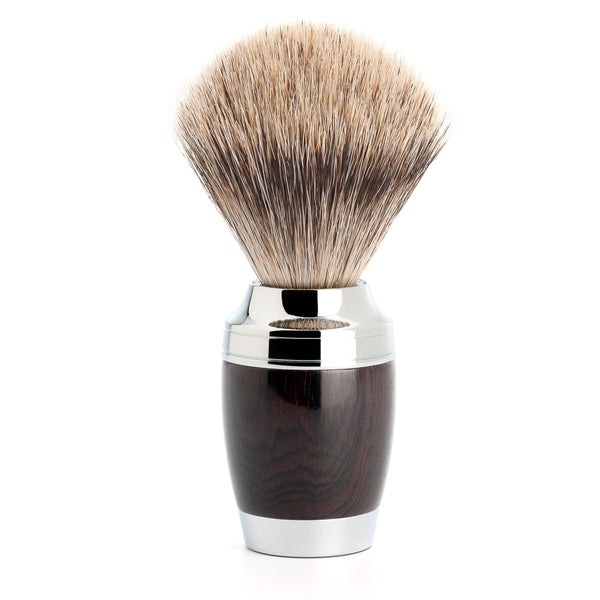 MUHLE Fine Badger Brush AFRICAN BLACKWOOD HANDLE - Blackwood Barbers