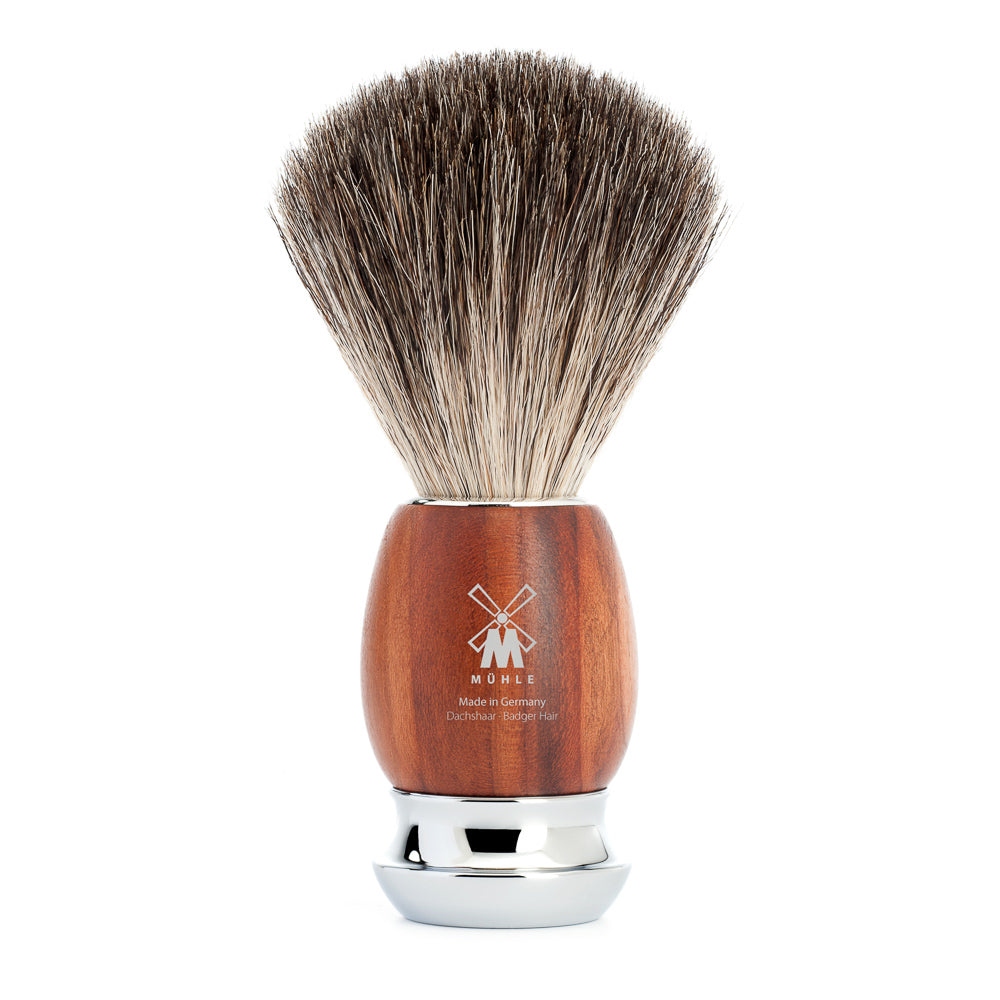MUHLE Vivo Pure Badger Brush PLUM TREE WOOD HANDLE 81 H 331 - Blackwood Barbers