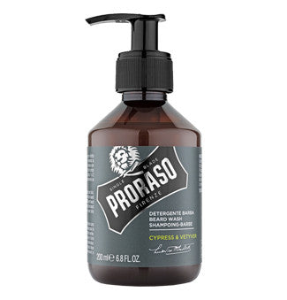 PRORASO BEARD WASH- CYPRESS & VETYVER