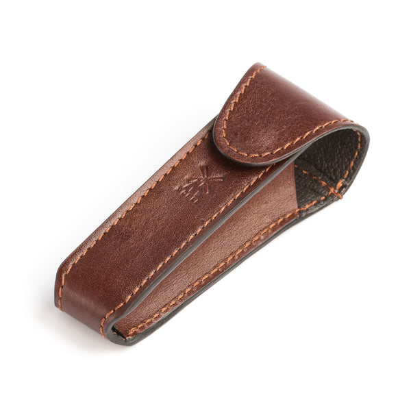 MUHLE LEATHER POUCH FOR TRADITIONAL SAFETY RAZOR- BROWN - Blackwood Barbers