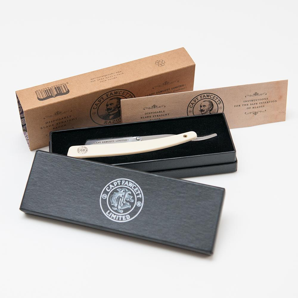 CAPTAIN FAWCETT DISPOSABLE BLADE STRAIGHT RAZOR - Blackwood Barbers