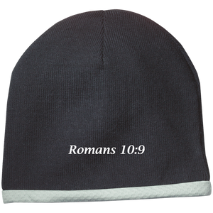 Romans 10:9 Performance Knit Cap - THEGOODSHEPHERDSHIRTS.com
