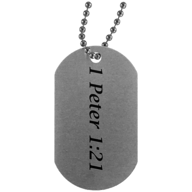 1 Peter 1:21 - Dog Tag - THEGOODSHEPHERDSHIRTS.com