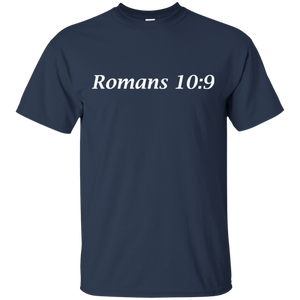 Romans 10:9 Men's Cotton T-Shirt - THEGOODSHEPHERDSHIRTS.com