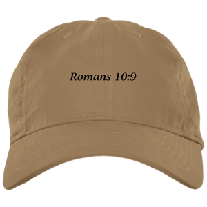 Romans 10:9 Brushed Twill Unstructured Cap - THEGOODSHEPHERDSHIRTS.com
