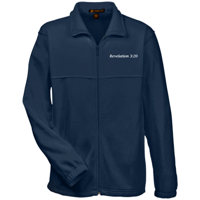 Revelation 3:20 Men's Fleece Full Zip - THEGOODSHEPHERDSHIRTS.com