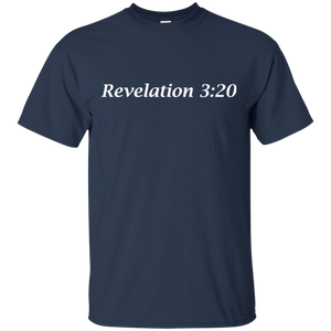 Revelation 3:20 Men's Cotton T-Shirt - THEGOODSHEPHERDSHIRTS.com