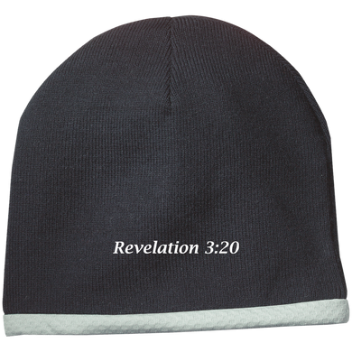 Revelation 3:20 Performance Knit Cap - THEGOODSHEPHERDSHIRTS.com